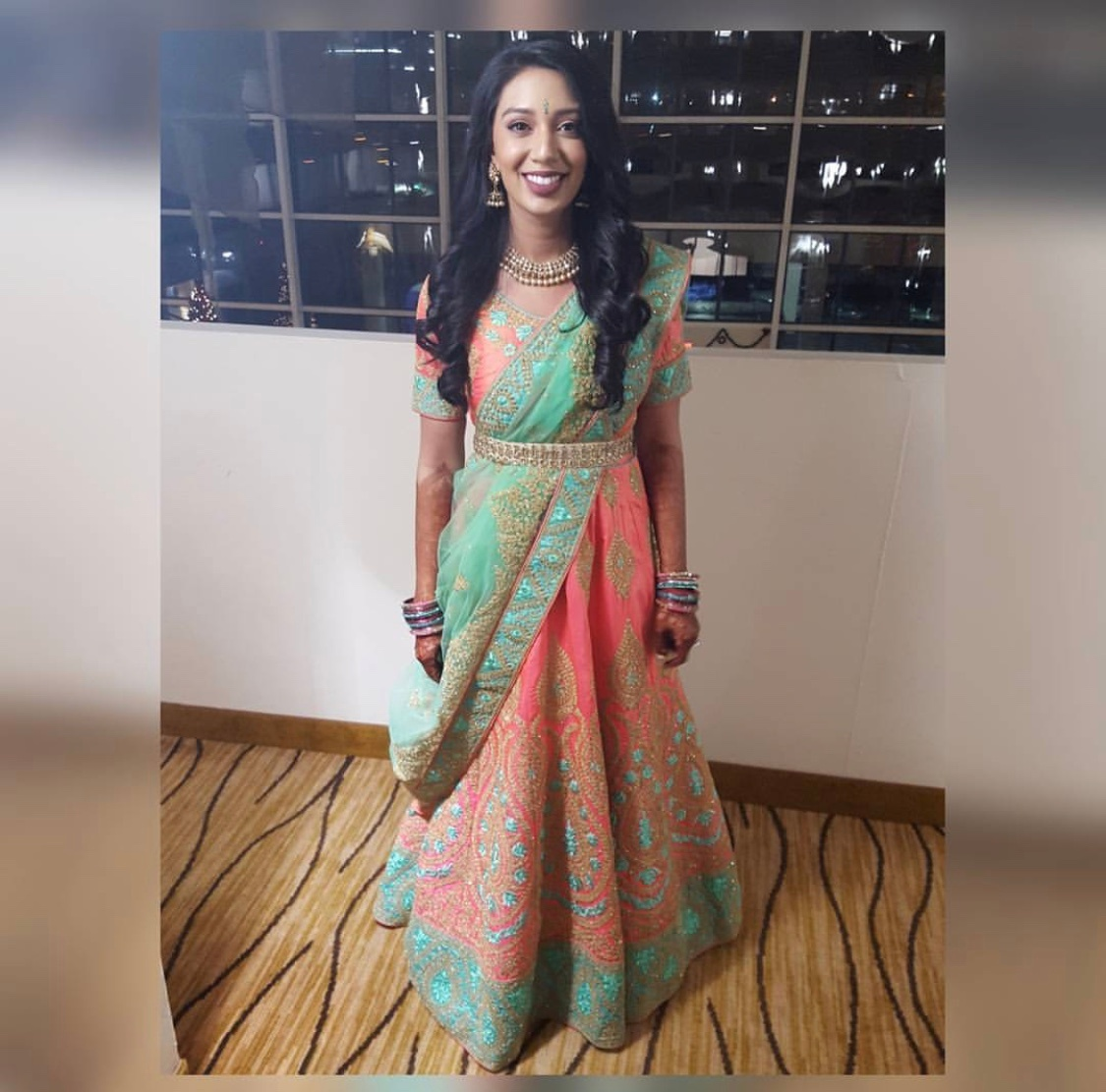 Elegant Saree Draping