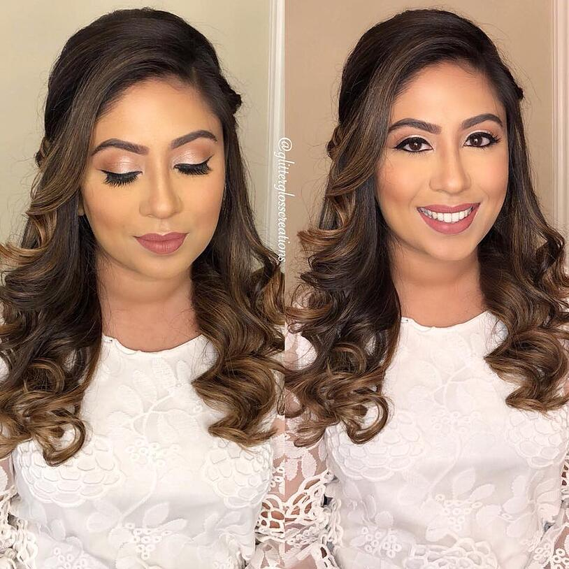 Glitter and Gloss Indian Wedding Makeup Artists in Dallas