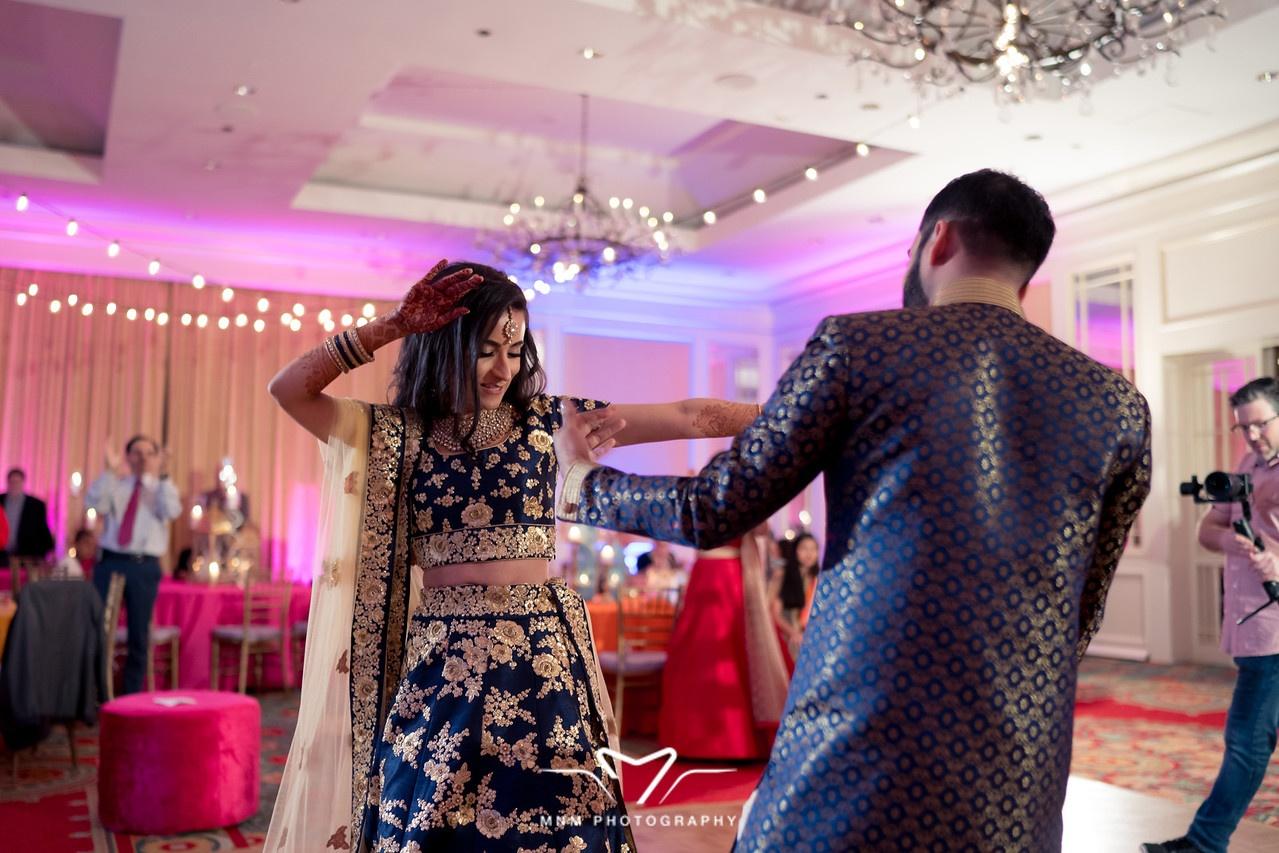 Bride and Groom Sangeet